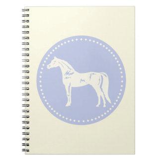 Cadernos Silhueta árabe do cavalo