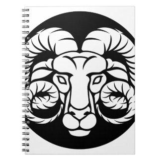 Cadernos Sinal do zodíaco do Aries da ram