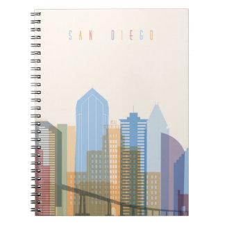 Cadernos Skyline da cidade de San Diego