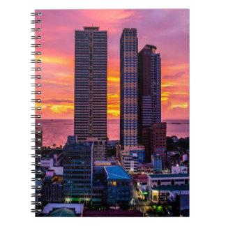 Cadernos Skyline de Manila Filipinas
