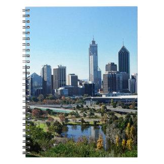 Cadernos Skyline de Perth Austrália