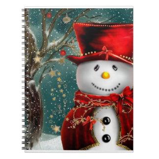 Cadernos Snowmans bonitos - ilustração do boneco de neve