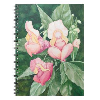 Cadernos Sono cor-de-rosa das senhoras da flor