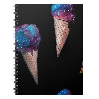 Cadernos space ice cream