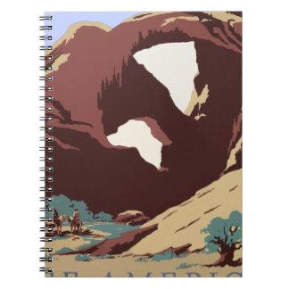 Cadernos Sudoeste América EUA do poster das viagens vintage