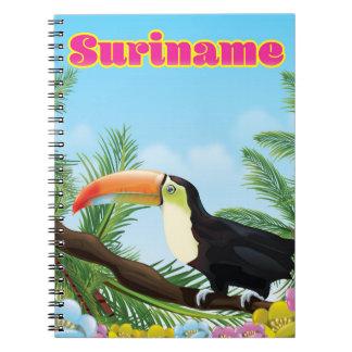 Cadernos Suriname sul - poster de viagens americano do