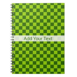 Cadernos Tabuleiro de damas clássico da combinação verde
