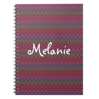 Cadernos Tecido cor-de-rosa, do azul e do ouro da vida