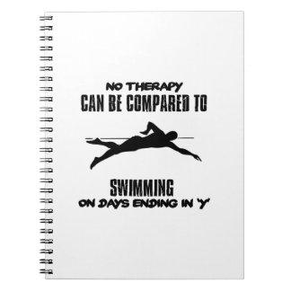 Cadernos Tensão e design impressionante da natação