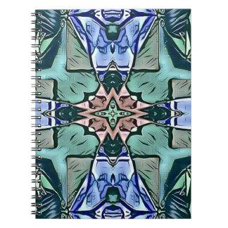 Cadernos Teste padrão artístico do pêssego moderno do Lilac