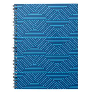 Cadernos teste padrão azul do triângulo