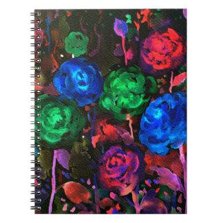 Cadernos Teste padrão cor-de-rosa da obscuridade da