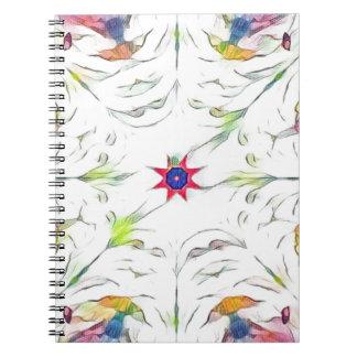 Cadernos teste padrão do lenço do primavera do vintage