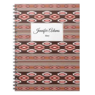 Cadernos teste padrão do sudoeste do navajo étnico. Nome