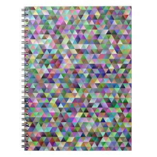 Cadernos Teste padrão feliz do triângulo