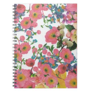 Cadernos teste padrão floral do tema das flores elegantes