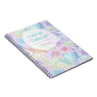 Cadernos Teste padrão futurista colorido bonito bonito dos