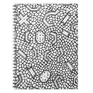 Cadernos Teste padrão indonésio celular de matéria têxtil