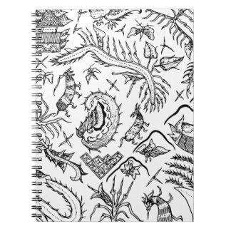 Cadernos Teste padrão indonésio de matéria têxtil dos