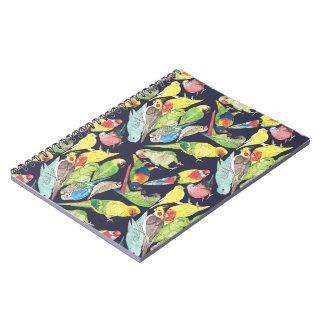 Cadernos Teste padrão pequeno dos papagaios