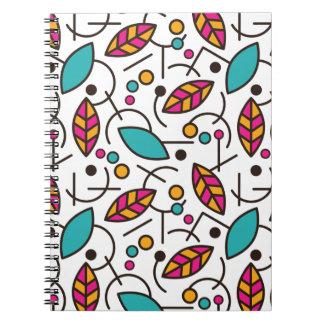 Cadernos Teste padrão sem emenda colorido geométrico