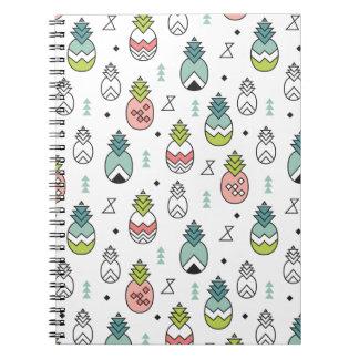 Cadernos Teste padrão sem emenda do abacaxi geométrico