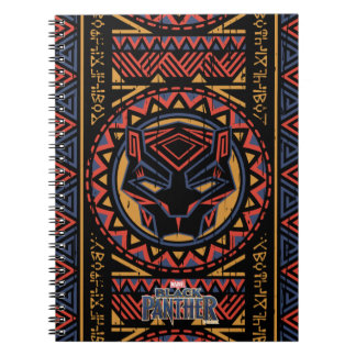 Cadernos Teste padrão tribal da cabeça da pantera da
