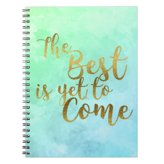 Cadernos The Best Is Yet To Come Watercolor Notebook