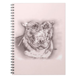 Cadernos Tiranizado (esboço de Staffordshire bull terrier)