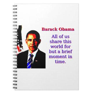 Cadernos Todos nós compartilham deste mundo - Barack Obama