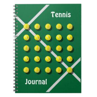 Cadernos Treinador de tênis, personalizado