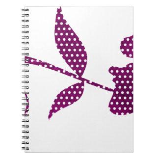 Cadernos triângulos do rosa quente