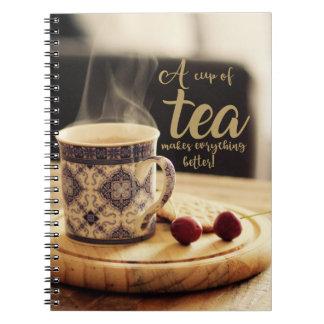 Cadernos Um copo do chá!