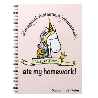 Cadernos Um unicórnio comeu meus trabalhos de casa