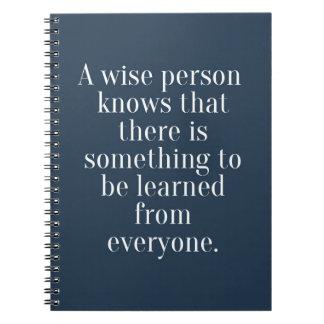 Cadernos Umas citações sábias da pessoa