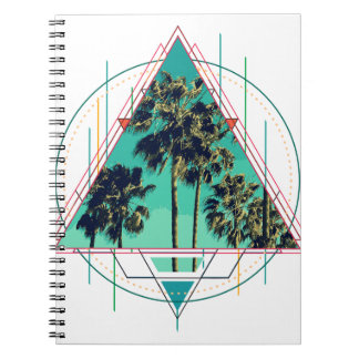 Cadernos Verão geométrico Palm Beach do calif do vintage