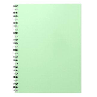 Cadernos Verde da hortelã da luz da cor da Web do código do
