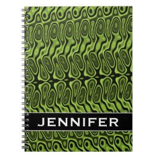 Cadernos Verde do abstrato Líquido-Como o teste padrão do