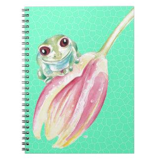 Cadernos Verde do comedor de rãs