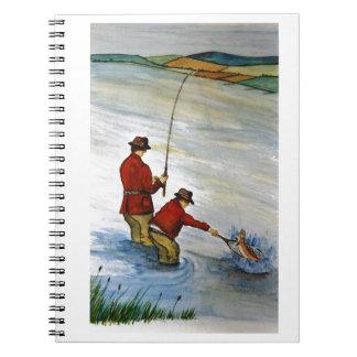 Cadernos Viagem de pesca do pai e do filho