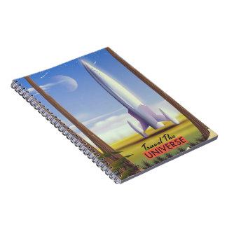 Cadernos Viaja o espaço retro art. do universo