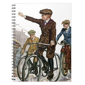 Cadernos Vintage/ciclistas retros