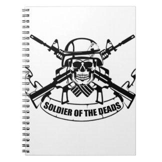 Cadernos Vintage do design do SOLDADO novo