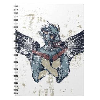 Cadernos zombi do vôo com asas