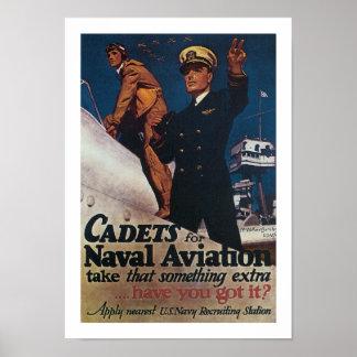 Cadete para a aviação naval poster