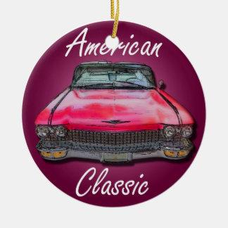 Cadillac 1960 americano do clássico ornamento de cerâmica redondo