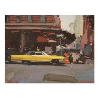 Cadillac amarelo 2012 cartão postal