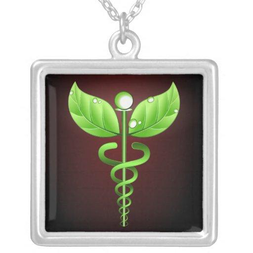 Caduceus: Colar do quadrado da medicina alternativ