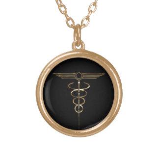 Caduceus do art deco colares personalizados