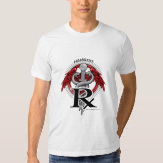 Caduceus do farmacêutico camisetas